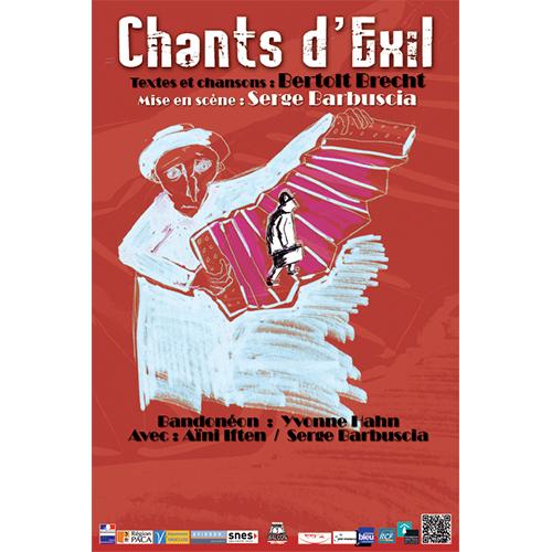 Affiche du spectacle chants d'exil par la compagnie Serge Barbuscia