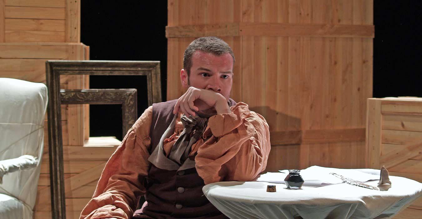 Jean-Sebastien Bach à une table