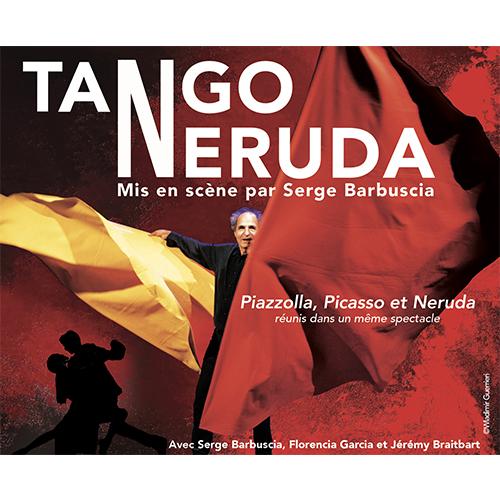 Affiche du spectacle tango neruda par la compagnie Serge Barbuscia
